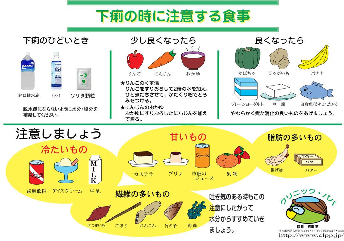 下痢 の 時 の 食べ物